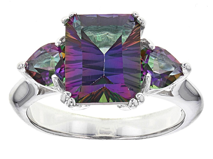 PreOwned Mystic Fire® Green Topaz Sterling Silver Ring 4