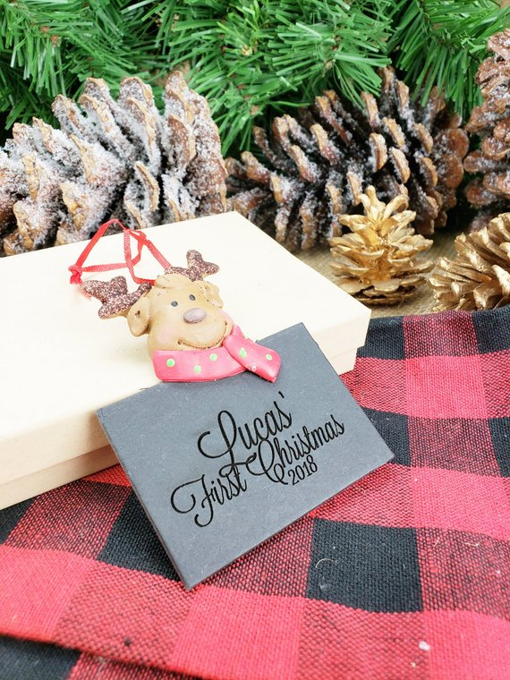 Christmas Gifts For New Parents.Personalized First Christmas Ornament For Baby Gift For