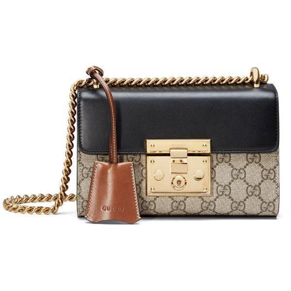 27e1d8c705 Gucci Padlock Gg Supreme Shoulder Bag ($1,285) ❤ liked on Polyvore  featuring bags, handbags, shoulder bags, women, leather shoulder bag, man  shoulder bag, ...