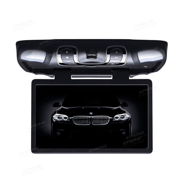 Xtrons 15 6 Hd Wide Screen Car Dvd Player Roof Mount Flip Down Monitor 1366 768 170 Max Open Angle Built In Ir Fm 32 B Wide Screen Dvd Player Car Dvd Players