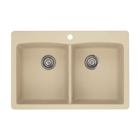 blanco 441285 diamond equal double bowl silgranit ii sink