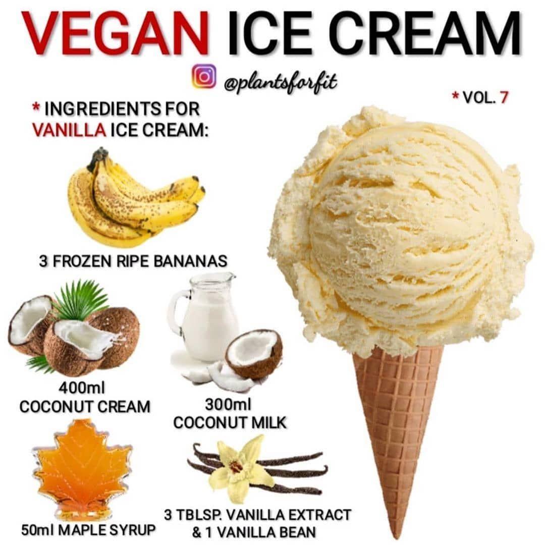 Veganism On Instagram Vegan Vanilla Ice Cream Anyone Via Plantsforfit Vegan Vanilla Ice Cream Recipe Food Processor Recipes Good Healthy Recipes
