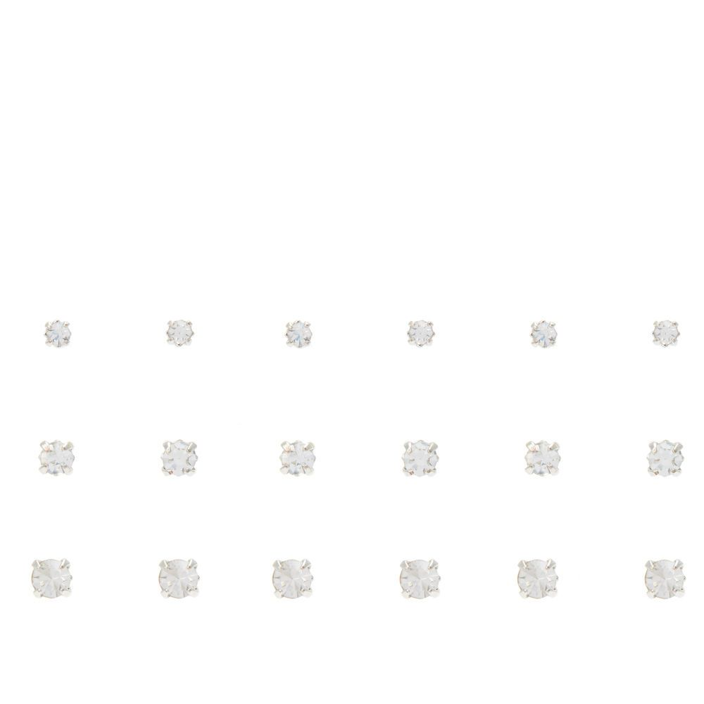 88082650e Claire's Graduated Square Set Crystal Stud Earrings - 9 Pack in 2019 ...