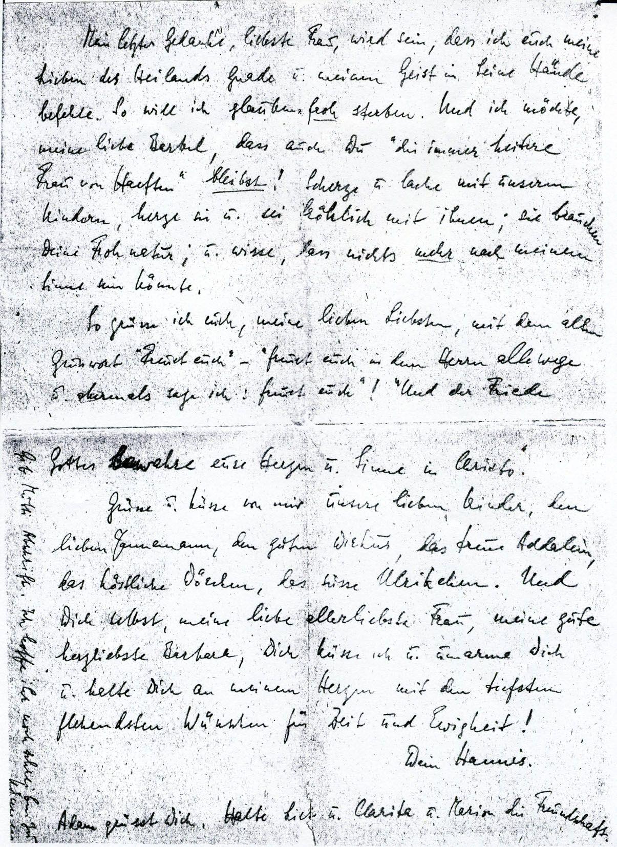 HansBernd Von HaeftenS Farewell Letter  Resistance Against