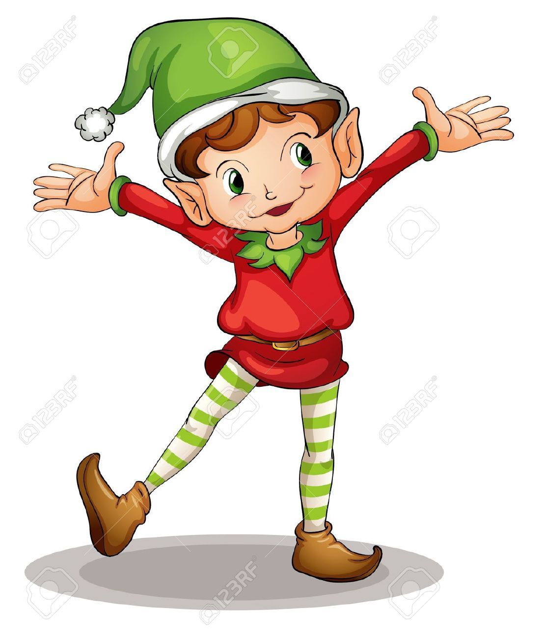 Illustration of a christmas elf | Christmas elves | Pinterest ...