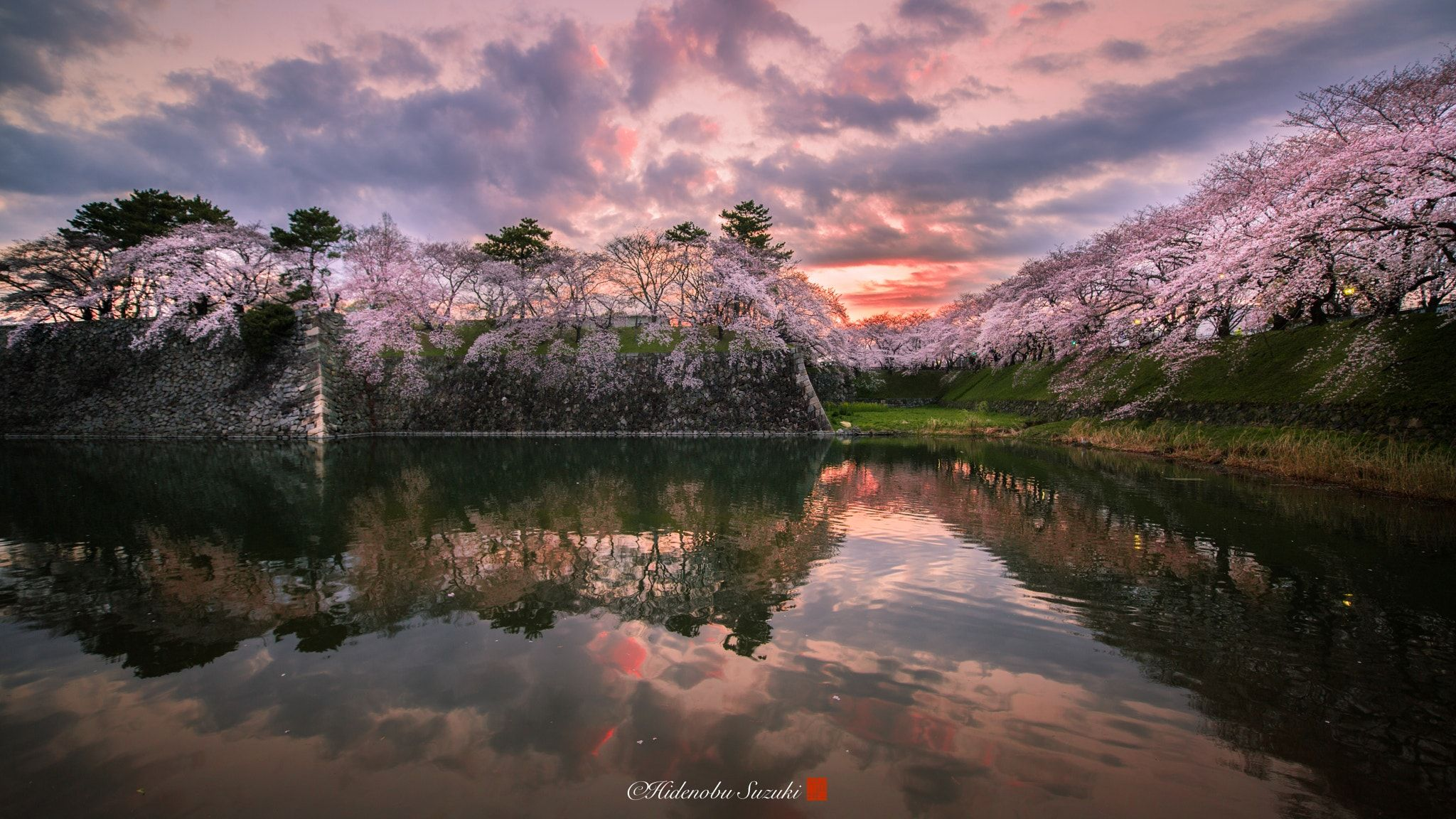 When Sakura Are Blooming The Outer Wall Of Nagoya Castle This - Calming photos of japans landscapes captured by hidenobu suzuki