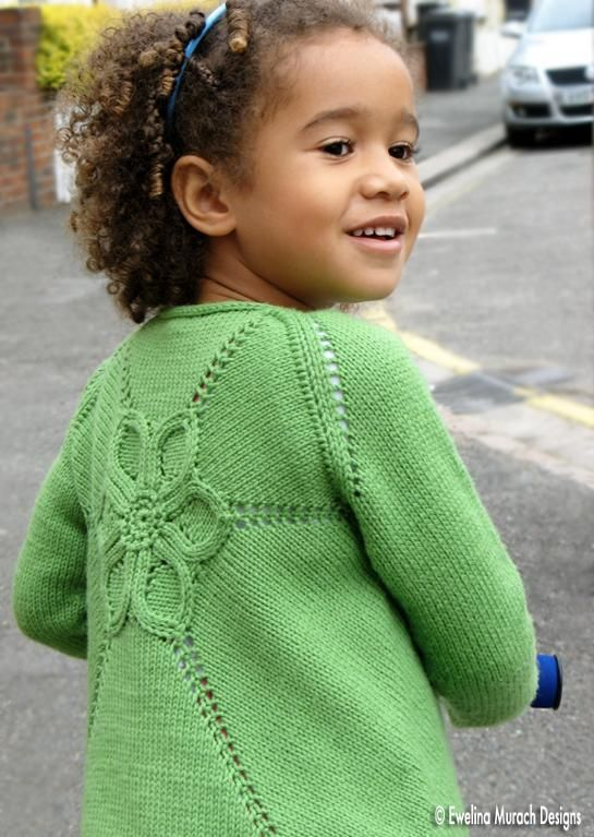 Flower Cardigan Pattern - For Baby\'s and Girls: http://knitting ...
