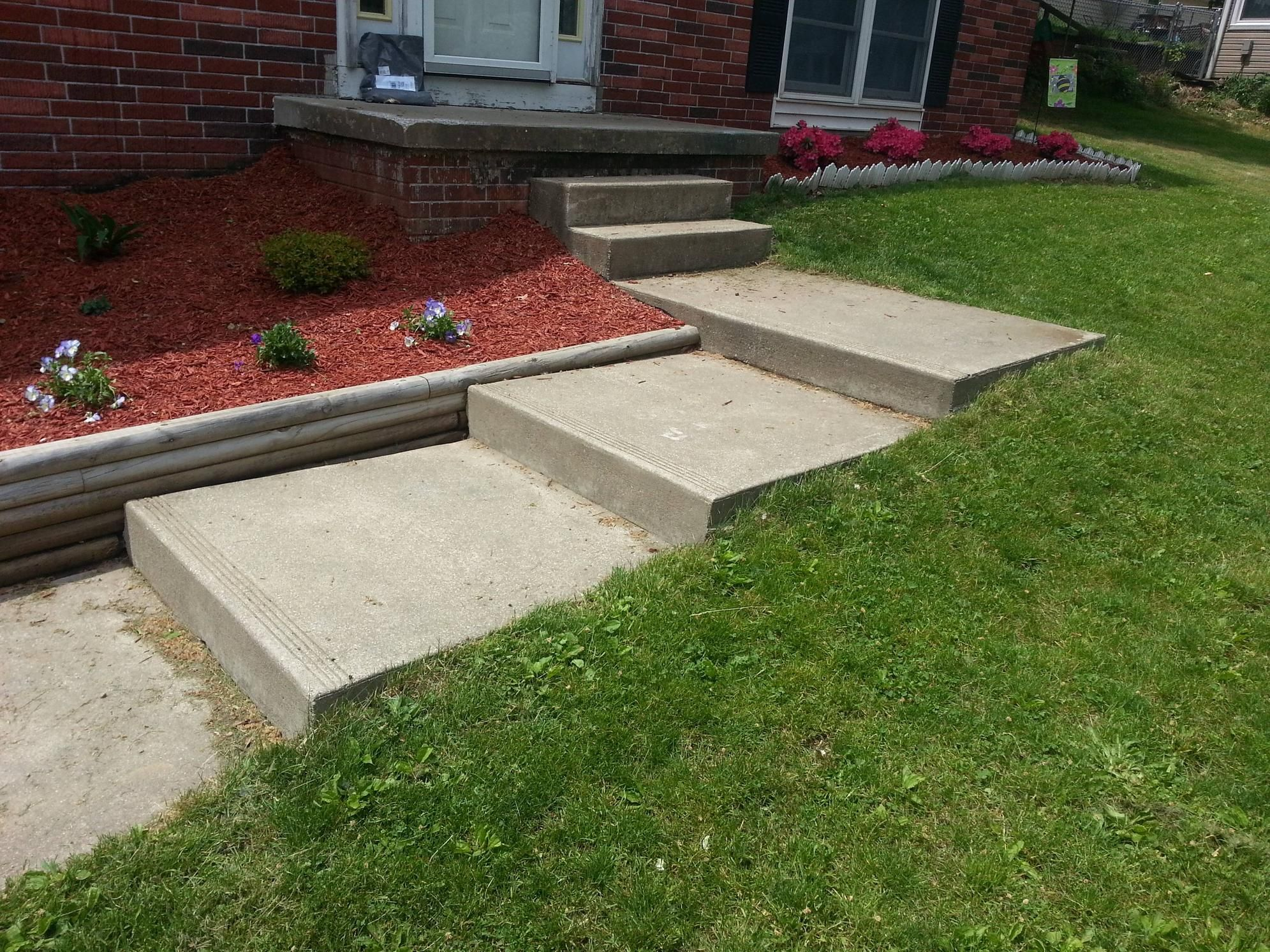 Ideas For These Steps In My Front Yard Landscaping Front House