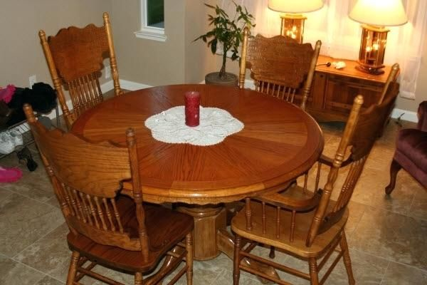 Magnificent oak kitchen table set Arts, fresh oak kitchen ...