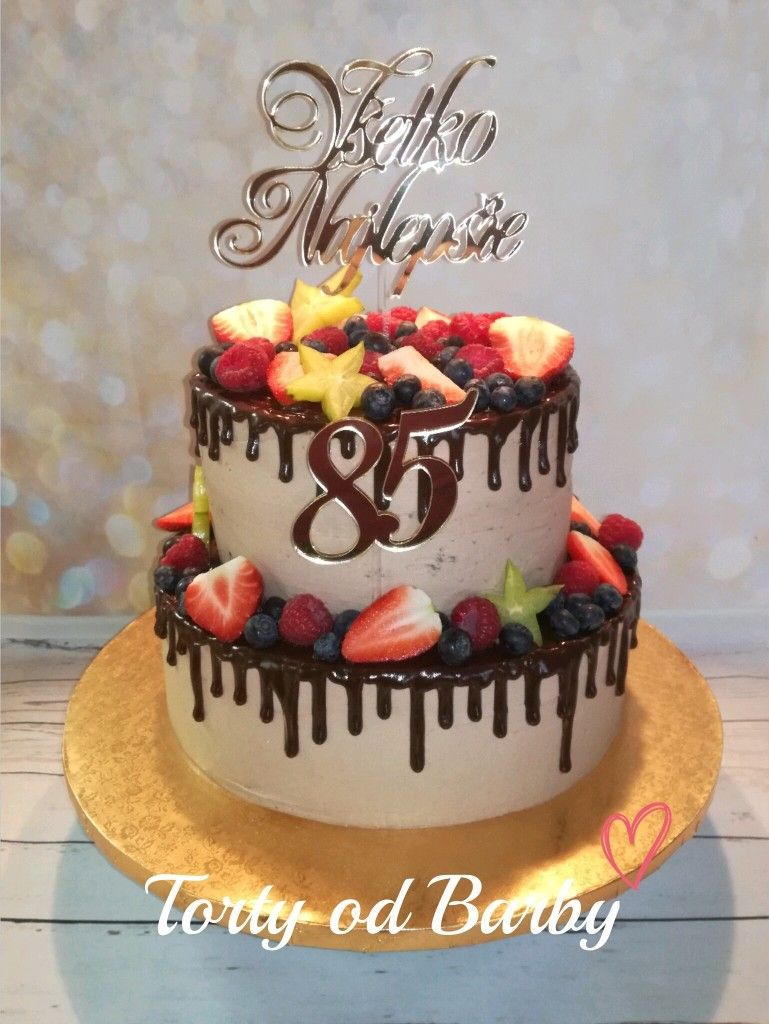 85th Birthday Cake 2 Tiers Moje Tortiky My Cakes Pinterest