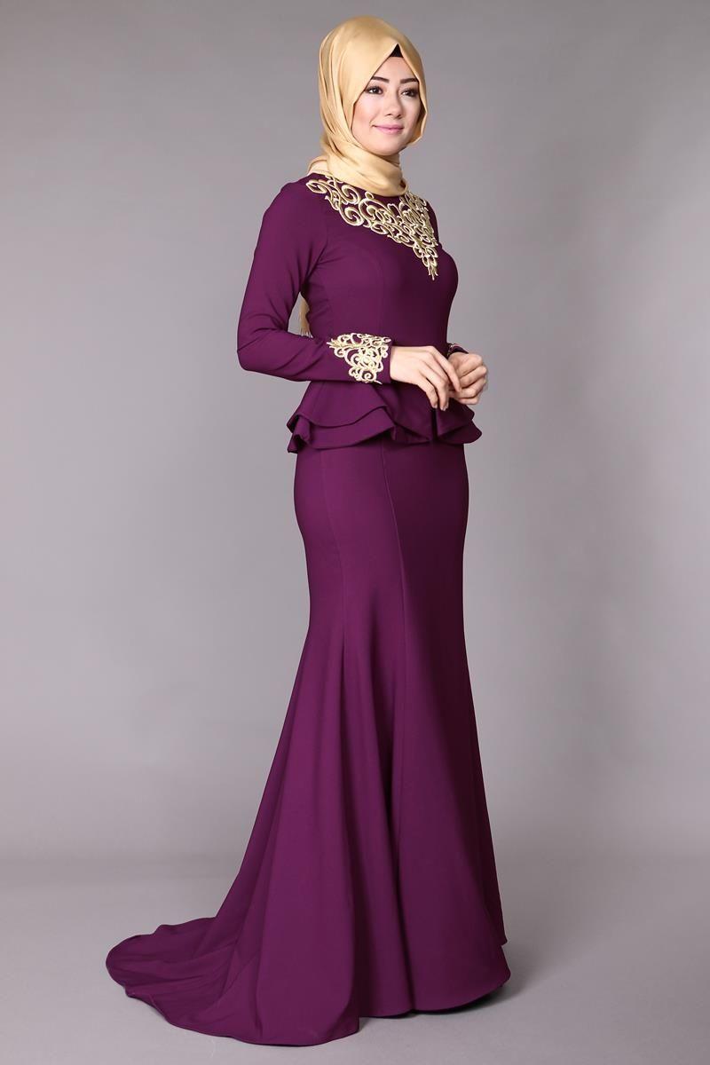 Ceket Gorunumlu Islemeli Abiye Knz3056 Murdum Musluman Modasi Moda Stilleri The Dress