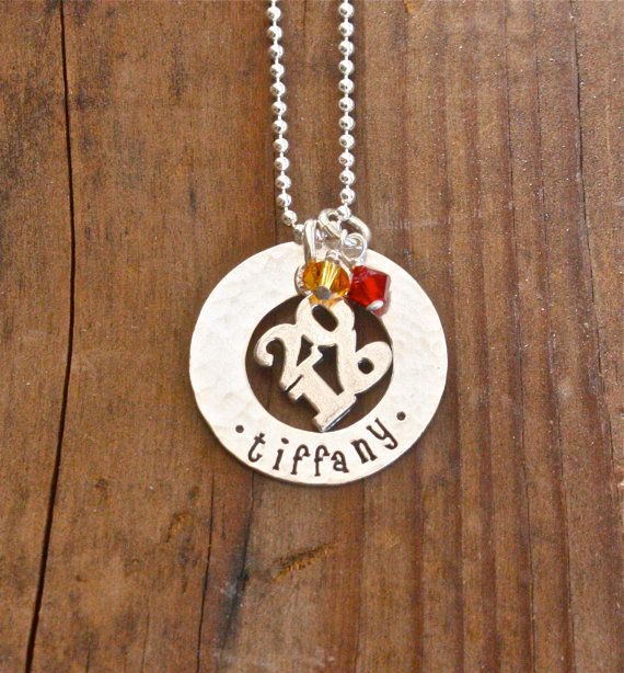 Class Of 2016 Necklace Personalized Washer By