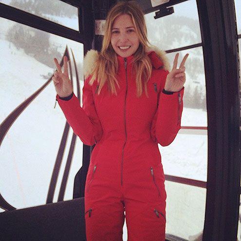 Ivanka Trump Family Ski Trip Aspen Photos Skiing Outfit Ski Trip Outfit Puffer Jacket Women