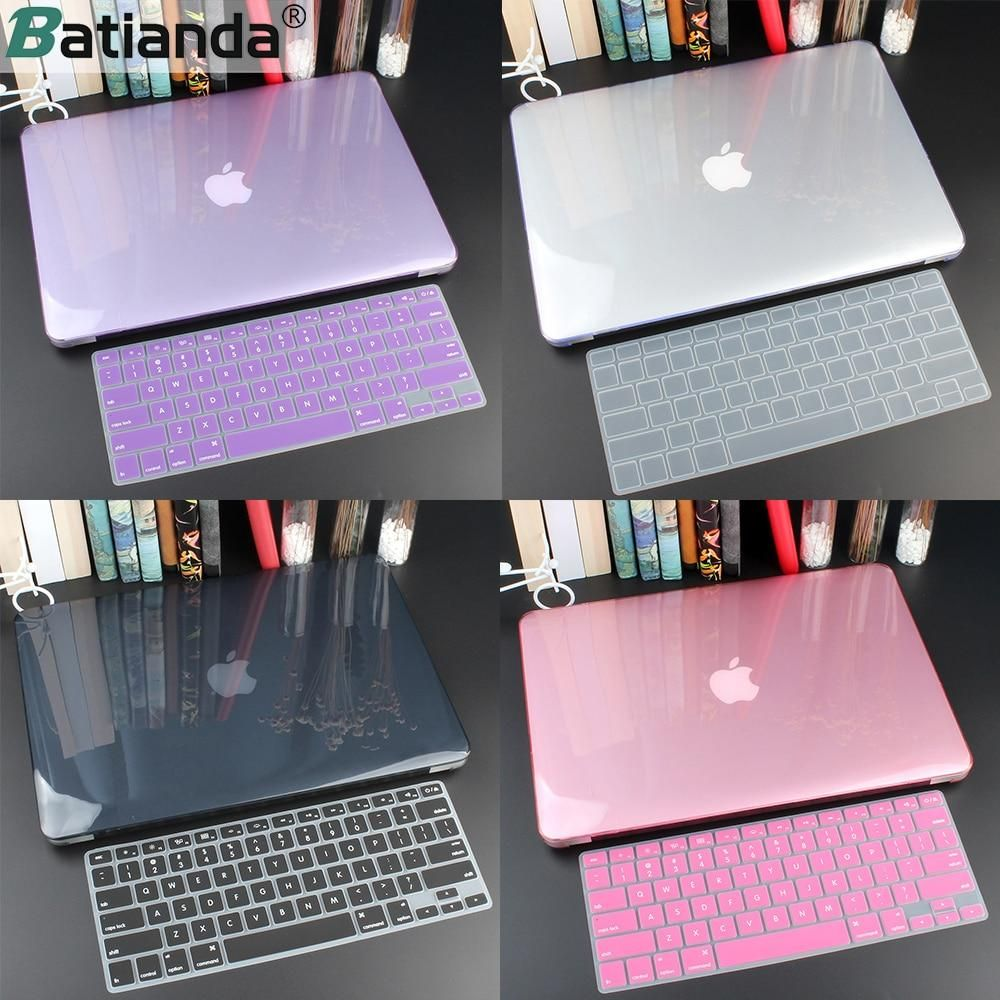 Crystal Hard Case for Macbook + Keyboard Cover in 2020