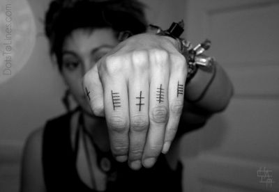 Finger tattoos   Dots, lines and geometric tattoo obsession