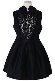 sweet retro bowknot black skirt
