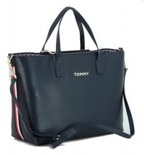 Henkeltasche Iconic Satchel Tommy Hilfiger Dunkelblau Corporate Henkeltasche Taschen Innentasche