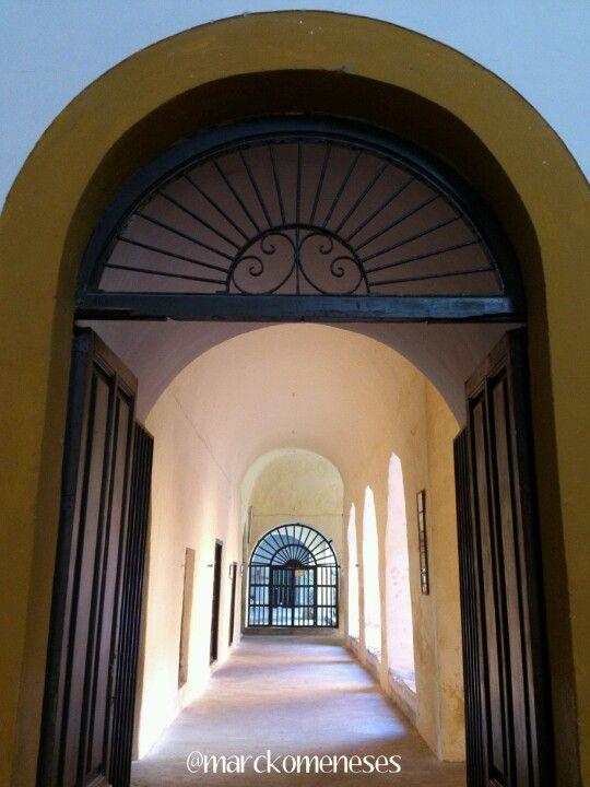 Pasillos del Convento Franciscano (San Antonio de Padua) en Izamal, Pueblo Mágico.