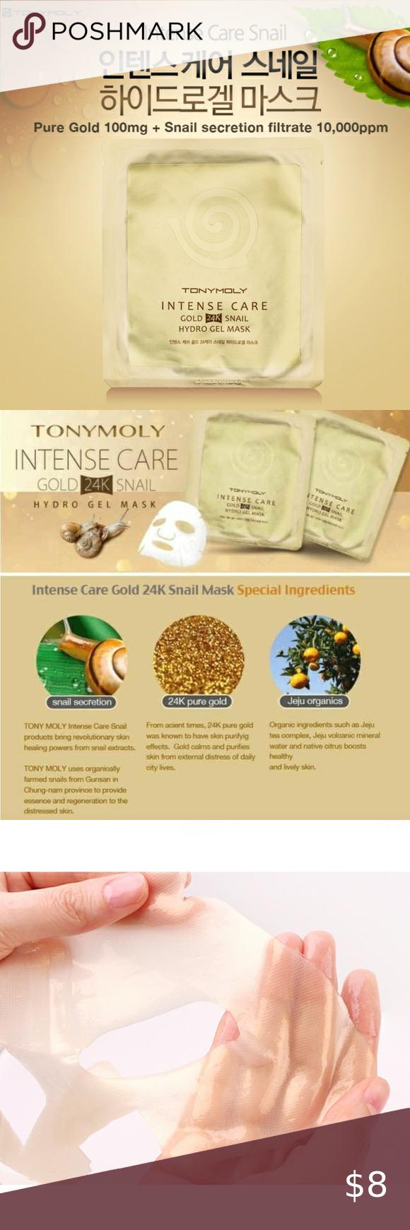 Tonymoly Intense Care Gold 24k Snail Gel Mask In 2020 Gel Mask Tony Moly Gel