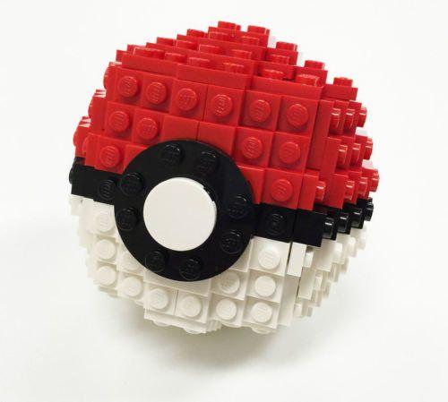 Constructibles Large Opening Pokeball Lego Parts Instructions