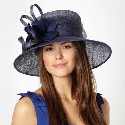 5a0424a2 Hatbox Navy looped feather corsage hat- at Debenhams.com £50 ...