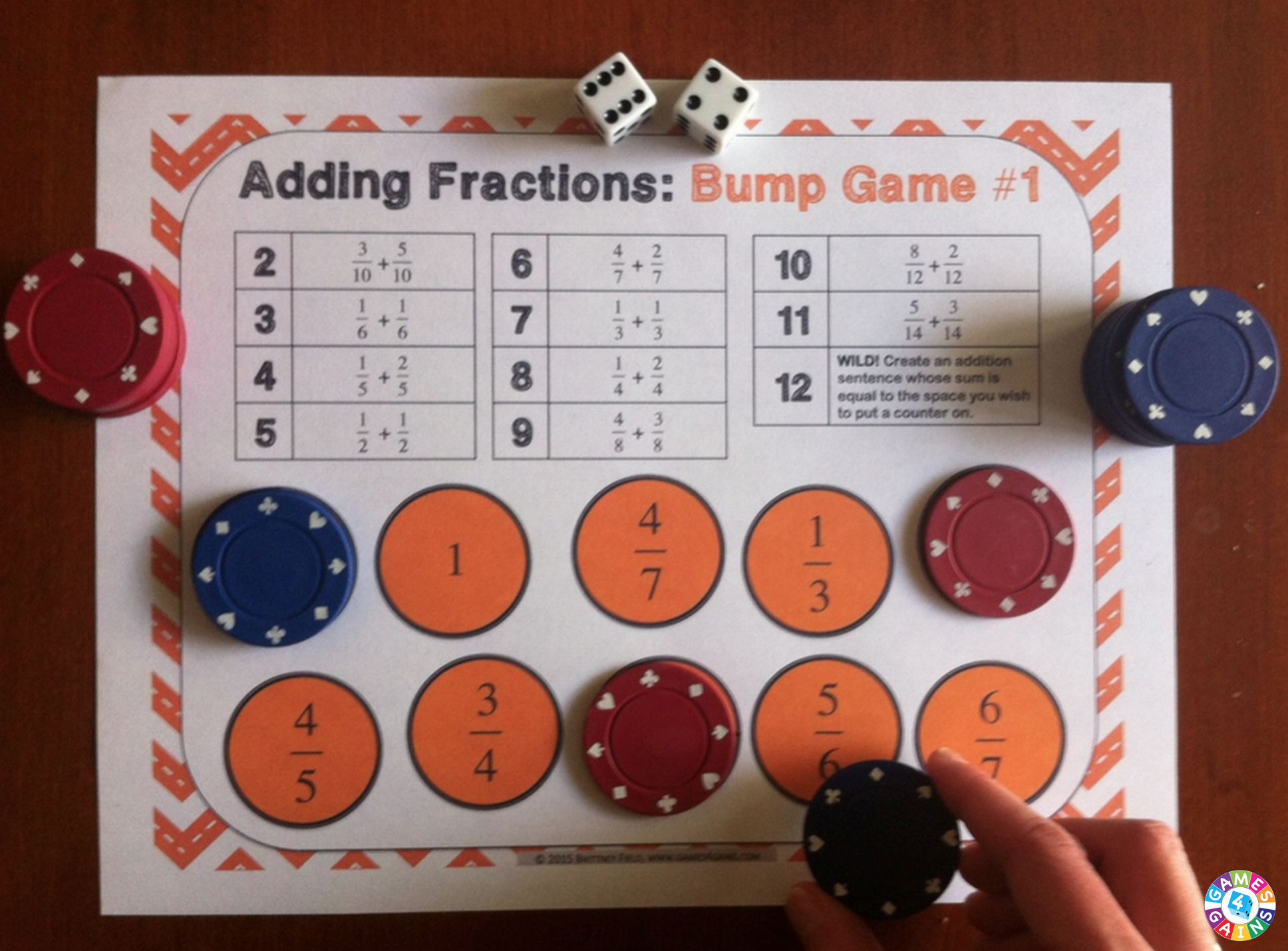 Bump Up The Fun With Fractions