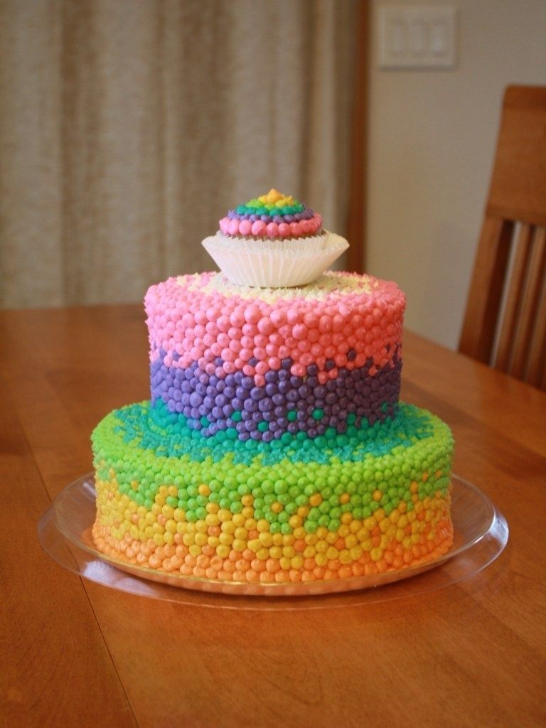25 Marvelous Picture Of Birthday Cake For 11 Years Old Girl Party Cakes Rainbow Dot Brooklyn Throughout