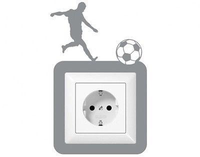 Steckdosentattoo Fußballschuss Fußball Lichtschalter Steckdose - Wandtattoos Fürs Badezimmer