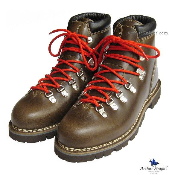 45c2935b78 Avoriaz Boots in Lis Olive Red Laces by Paraboot France from Arthur Knight