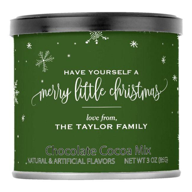 Green Snowflake Christmas Cocoa Mix |  Green Snowflake Christmas Cocoa Mix