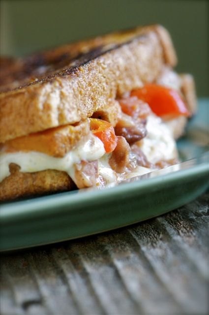 Southwest grilled cheese - yum! by NamelyMarly