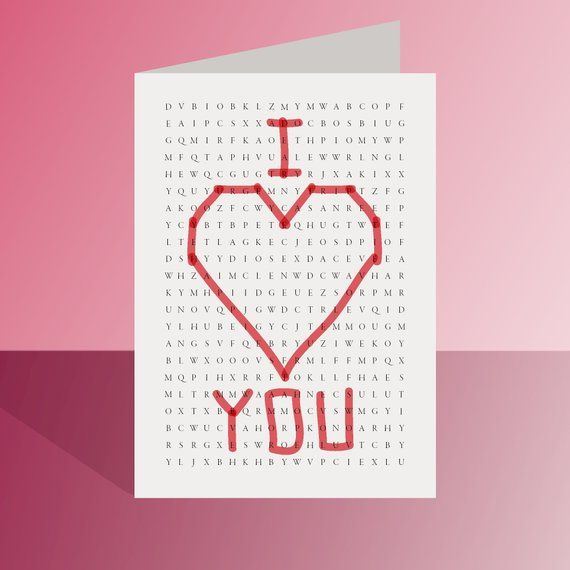 printable valentines day card  i love you card i heart