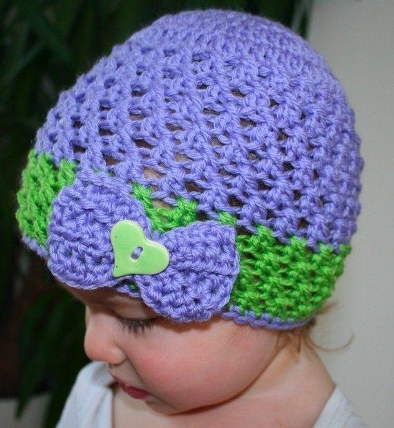 crochet hat pattern lilac baby crochet hat by LuzCrochetPatterns, $3.99
