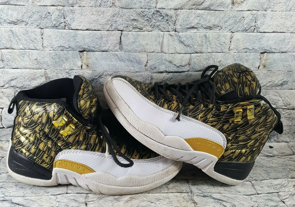 5c30e6f9c8fc5 eBay #Sponsored Air Jordan Retro 12 XII Wings 848692-033 Gold/Black ...