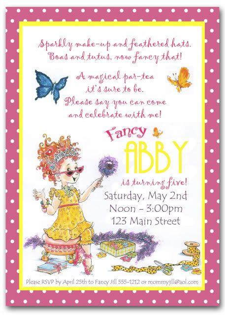 Free Fancy Nancy Invitation Template Fancy Nancy Party
