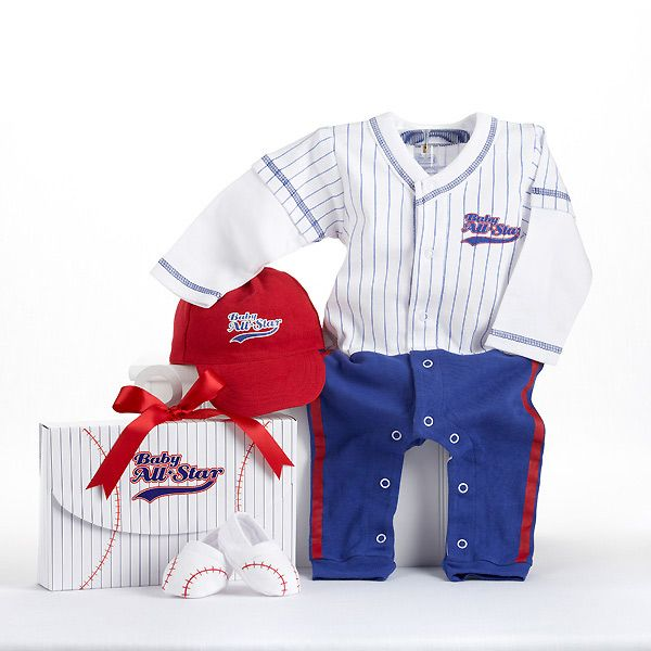 Big dreamzzz baby baseball 3 piece layette set in all star gift box big dreamzzz baby baseball 3 piece layette set in all star gift box personalization available negle Images