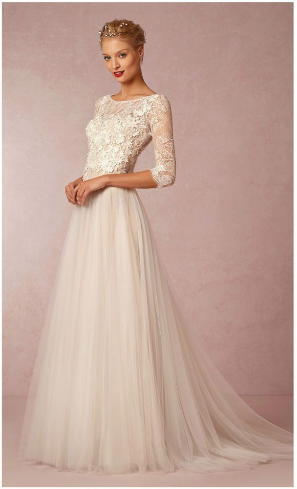 WATTERS Amelie Gown Wedding Dress BHLDN Anthropologie - Size 00 ...