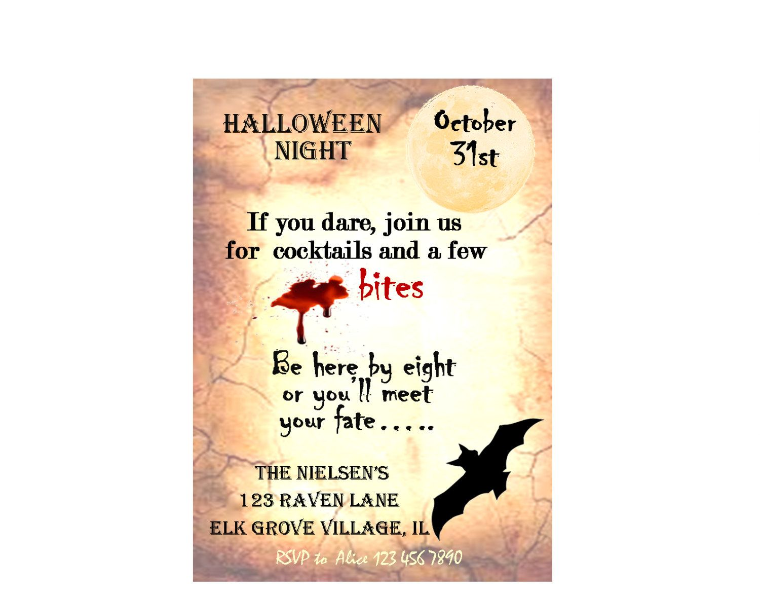 Halloween Bat Party Invitation Printables - House Designer Today •