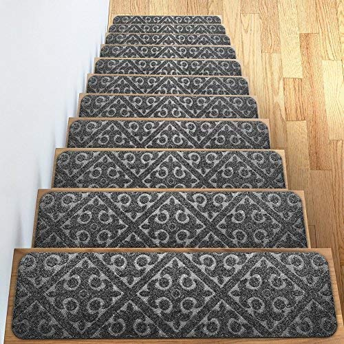 Best Carpet Stair Treads Set Of 13 Non Slip Skid Rubber Runner 400 x 300