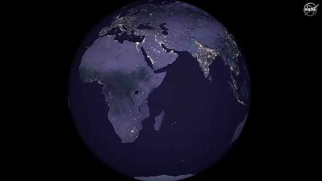 Nasa releases stunning new global maps of earth at night global nasa scientists have just released the first new global map of earth at night since 2012 gumiabroncs Choice Image