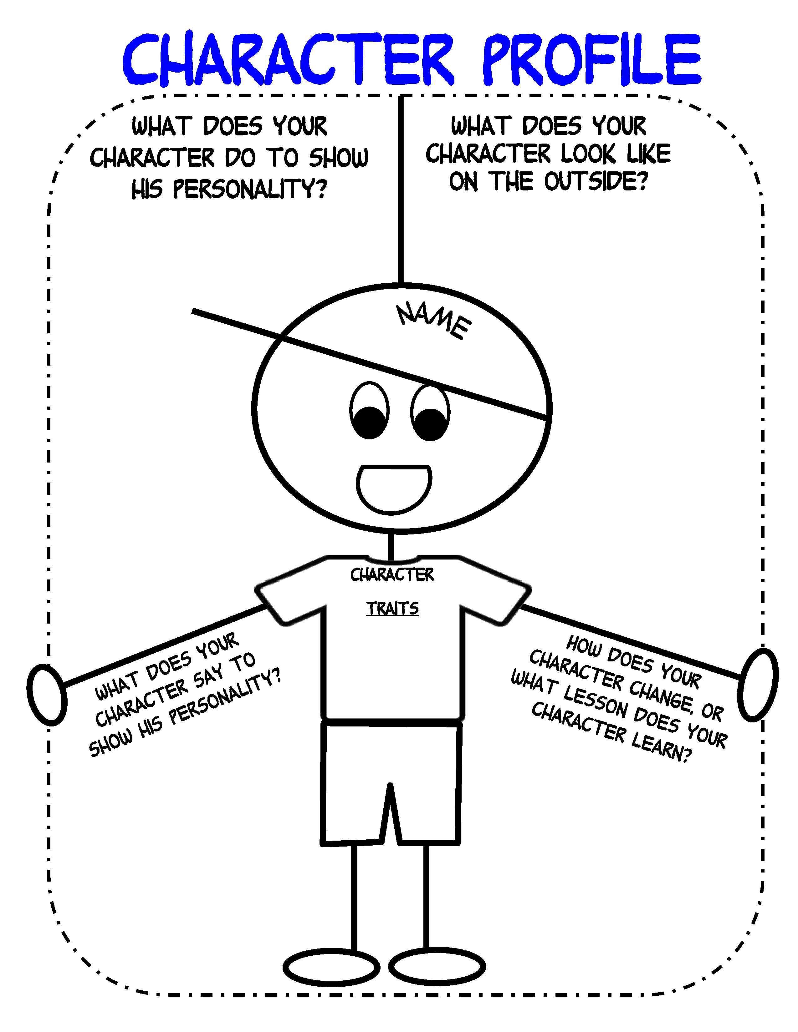 small resolution of Character Profile Organizer   Graphic organizers