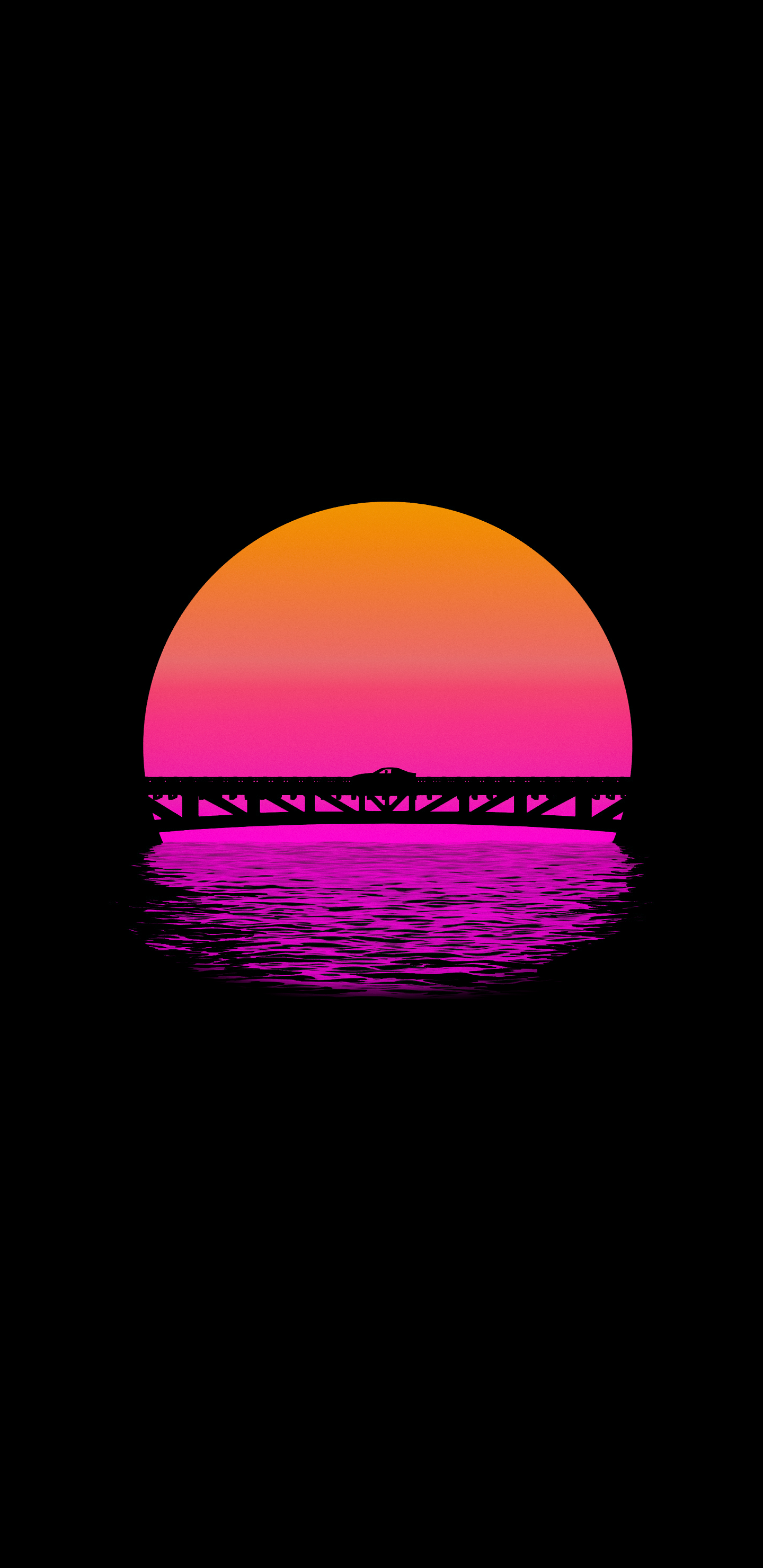 Outrun Sunset 1440x2960 I Imgur Com Submitted By Theunchainedzebra To R Amoledbackgrounds 1 Comments Sunset Wallpaper Vaporwave Wallpaper Glitch Wallpaper