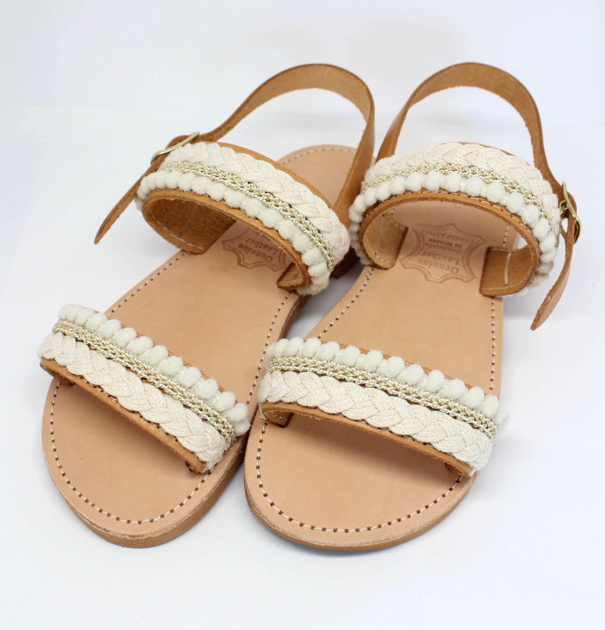 Flower girl sandals handmade by lizaslittlethings on etsy
