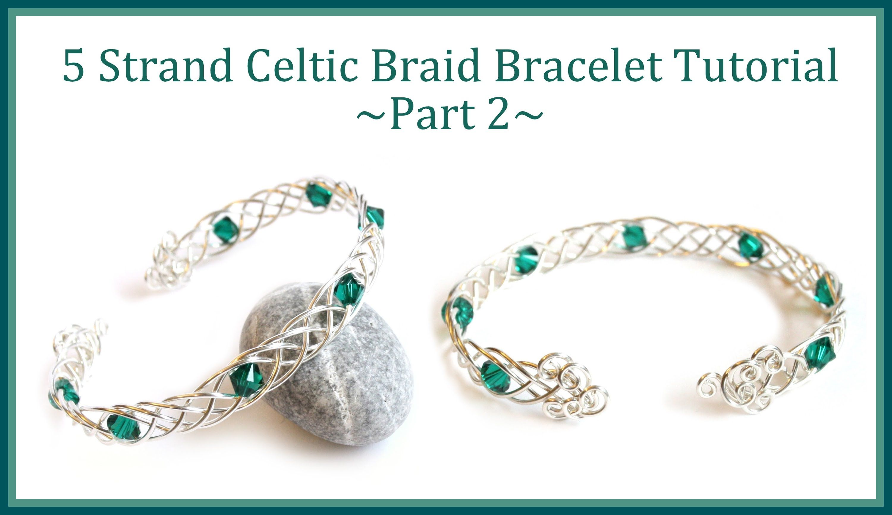 Jewelry Tutorial : How to Make a Celtic Weave Bracelet PART 2 ...