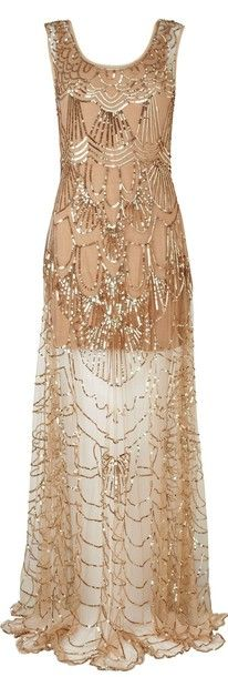Great Gatsby Party Dress Long Glitter Gold