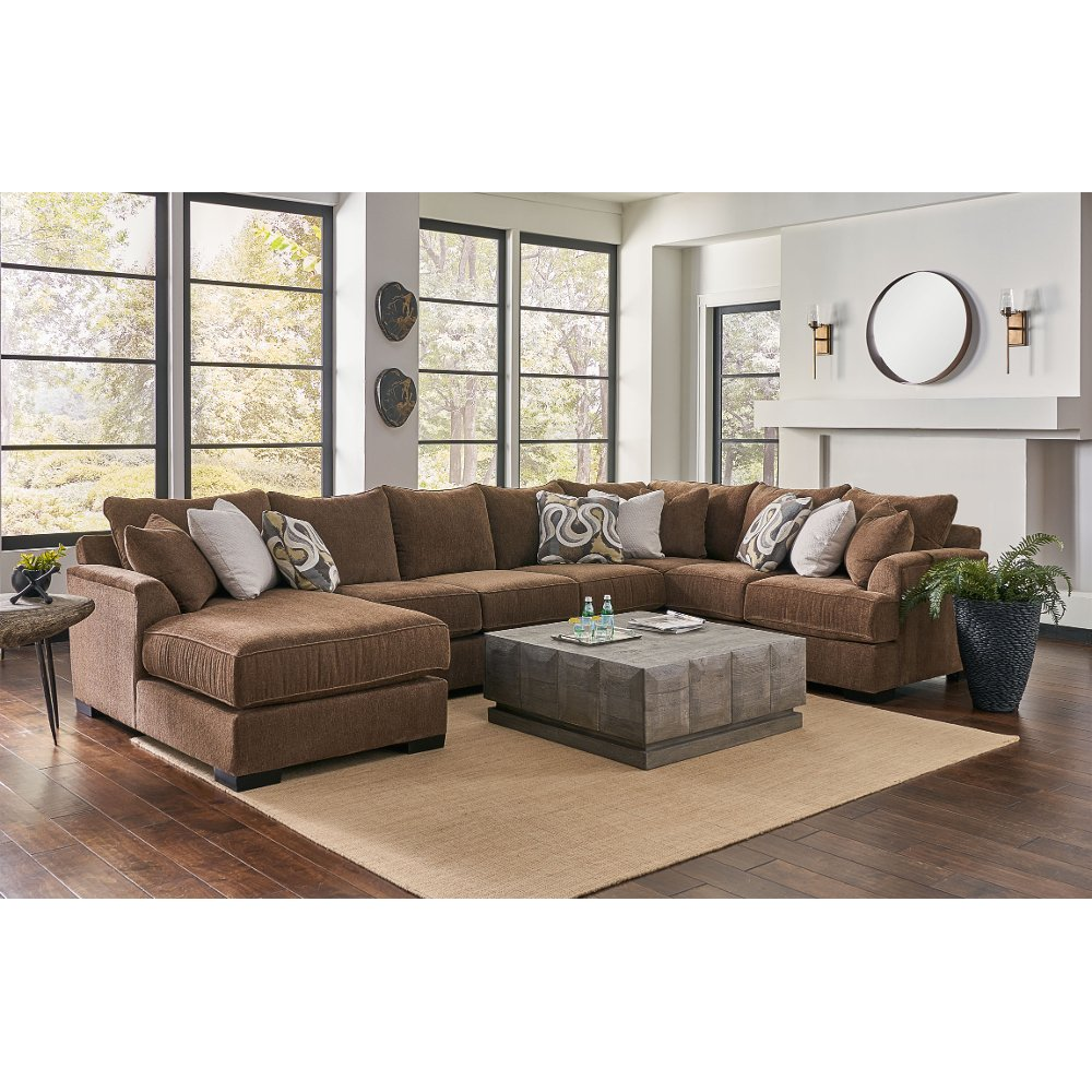 Brown 3 Piece Sectional Sofa With Laf Chaise Tranquility In 2020