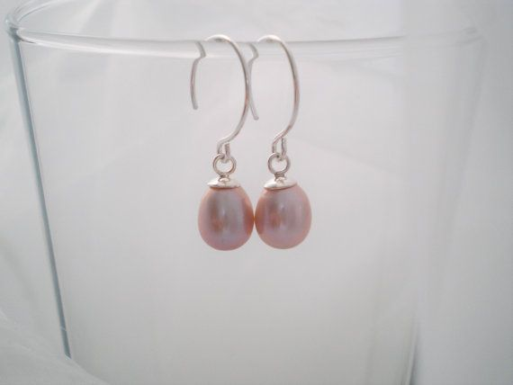 925  Pink Mauve Freshwater Teardrop Pearl by BecauseIamHappy