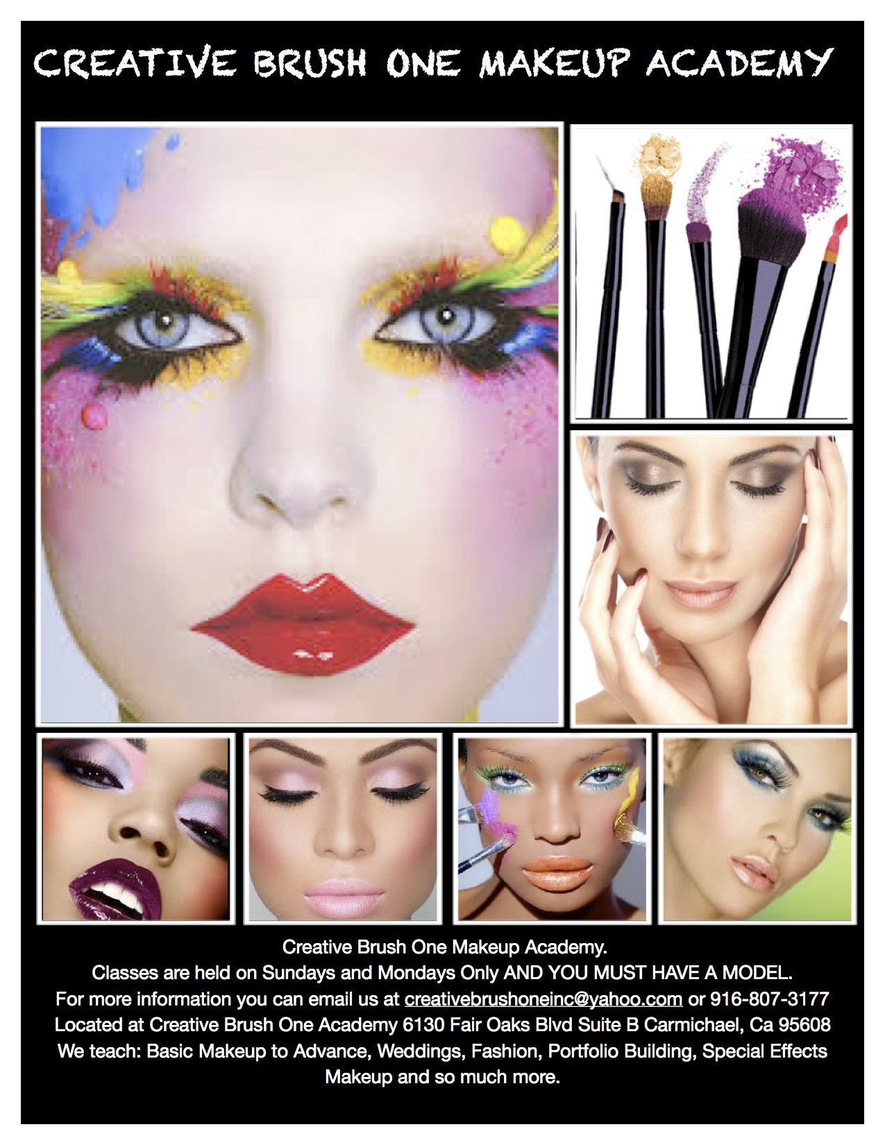 Creative Brush One Makeup Academy here in Carmichael, Ca