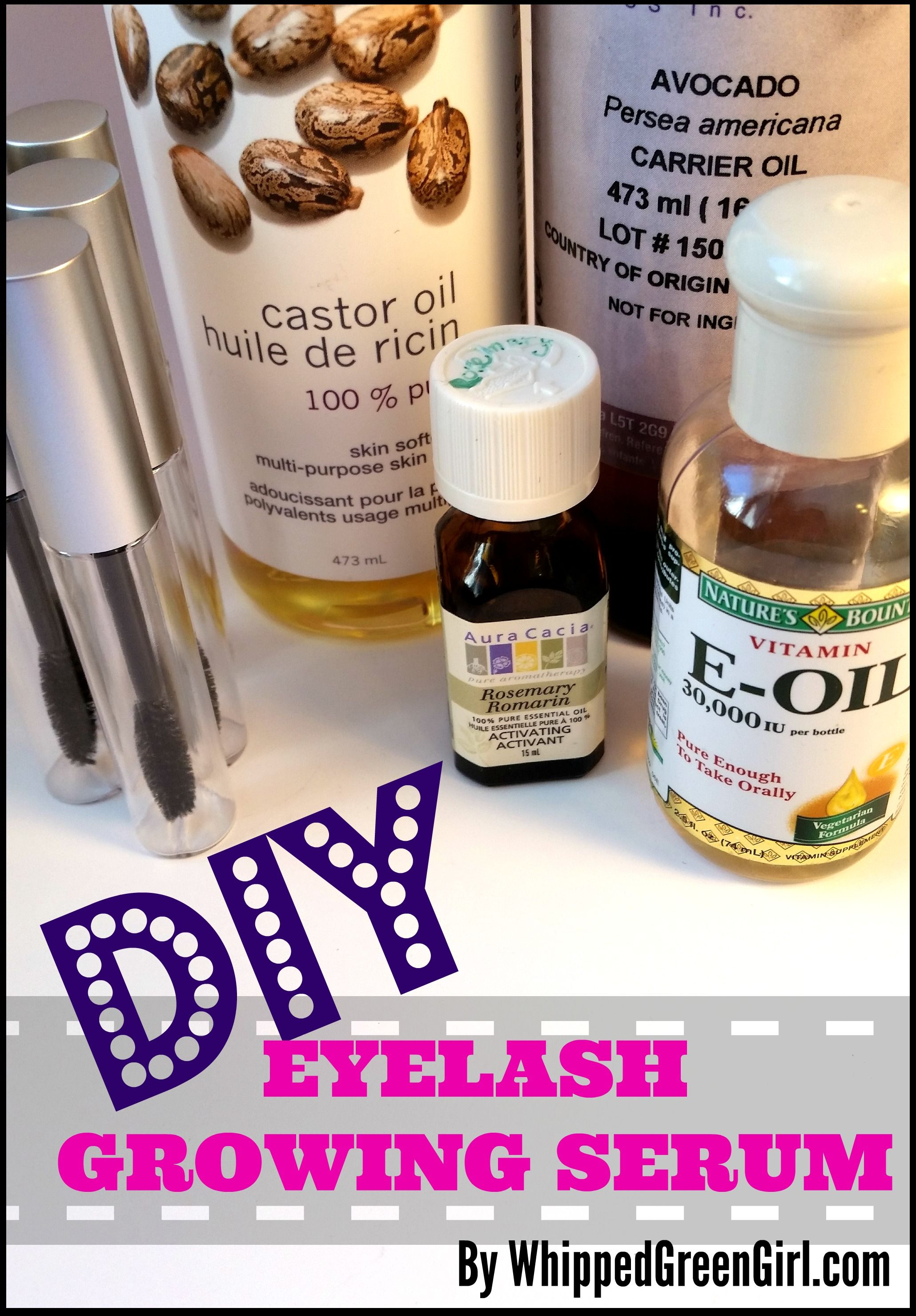 diy eyelash growing serum | homemade cleaning and beauty | pinterest