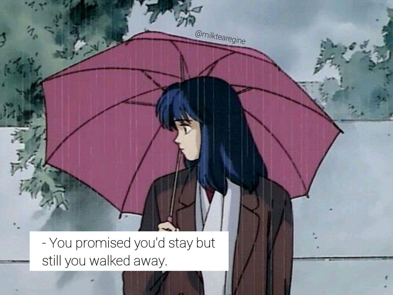 You Walked Away But Still I Keep Waiting For You To Come Back Anime Gifs Filmes De Anime Cenario Anime